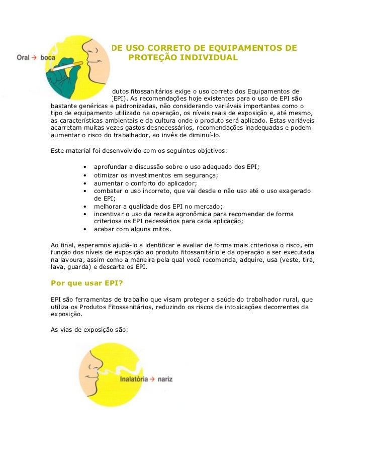 MANUAL PARA O USO CORRETO DE EPI