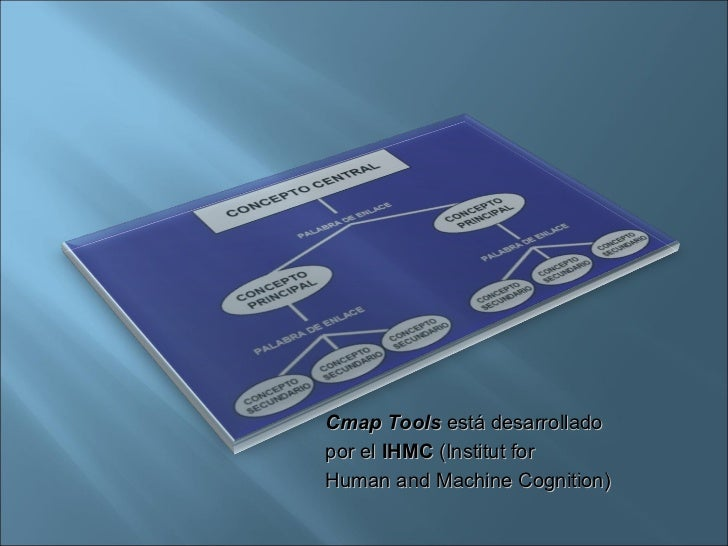 Cmap Tools  está desarrollado  por el  IHMC  (Institut for  Human and Machine Cognition)