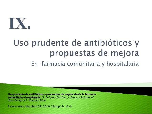 Uso prudente de antimicrobianos