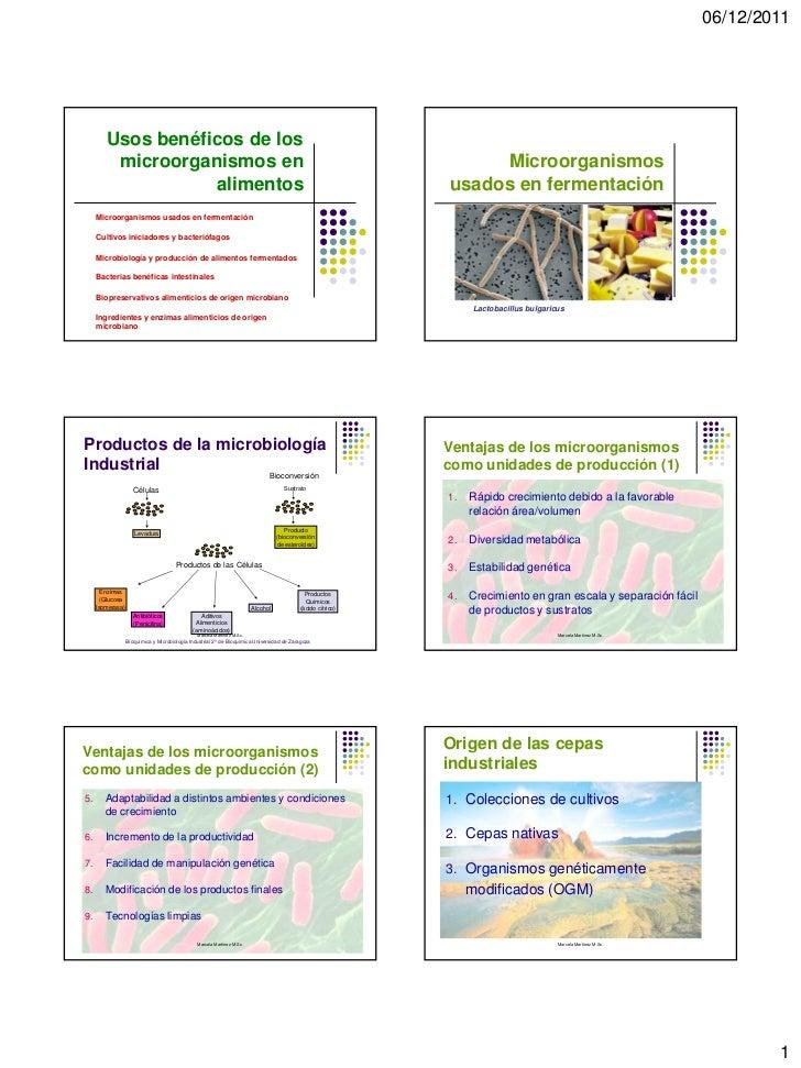06/12/2011        Usos benéficos de los         microorganismos en                                                        ...