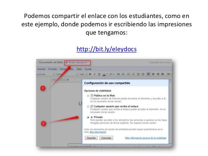 Podemos compartir el enlace con los estudiantes, como en este ejemplo, donde podemos ir escribiendo las impresiones que te...