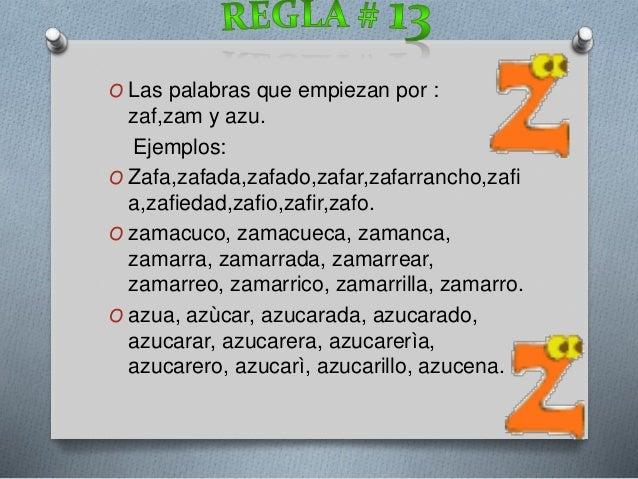 Palabras que comiencen con z