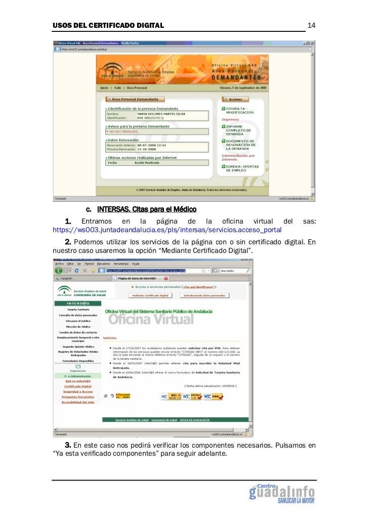 Usos del certificado digital for Oficina certificado digital
