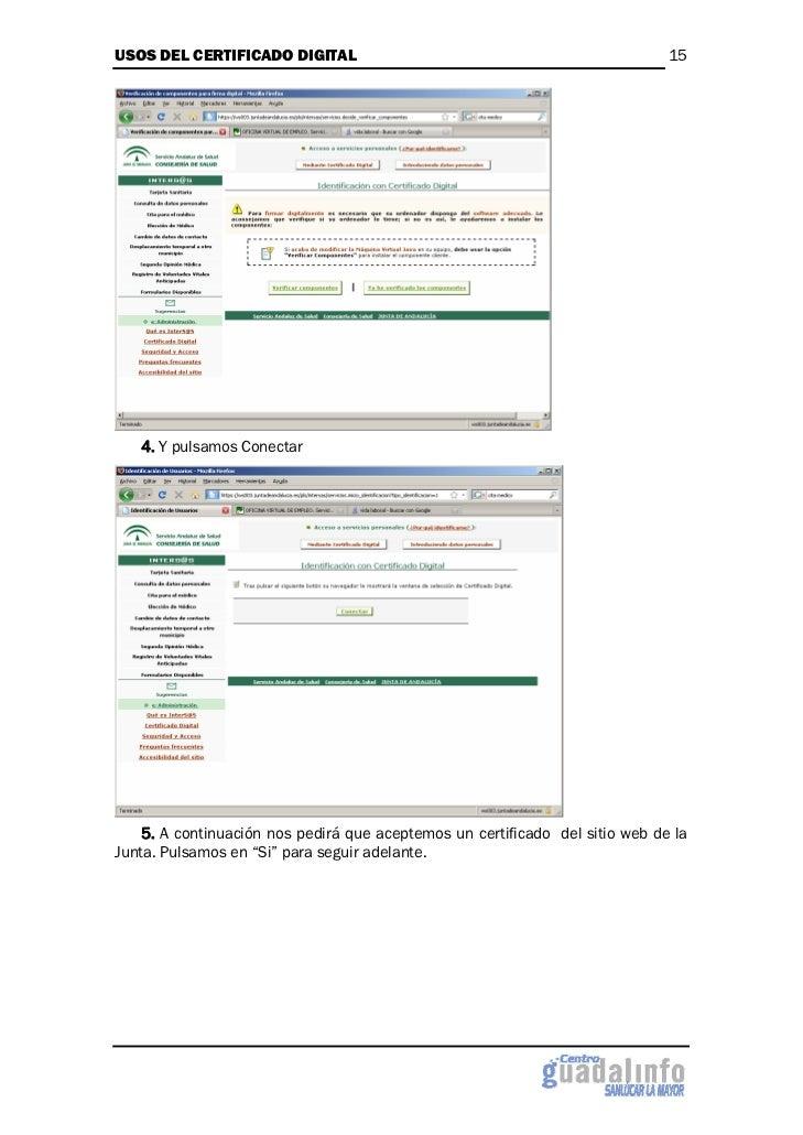 Usos del certificado digital - Oficinas certificado digital ...