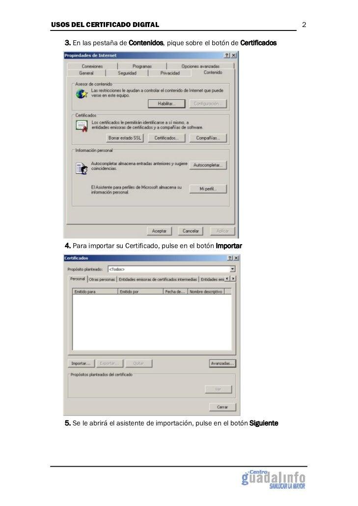 Usos del certificado digital Slide 2