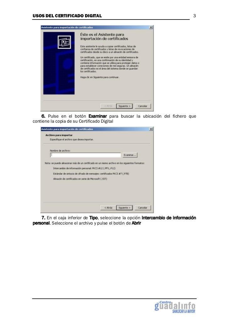 Usos del certificado digital Slide 3