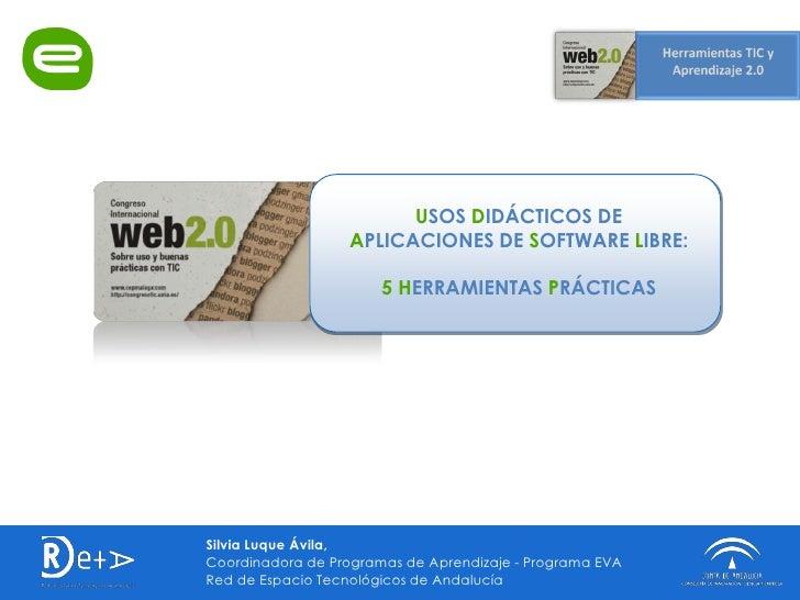 USOS DIDÁCTICOS DE                   APLICACIONES DE SOFTWARE LIBRE:                         5 HERRAMIENTAS PRÁCTICAS     ...