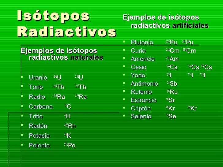Resultado de imagen de Isótopos radiactivos