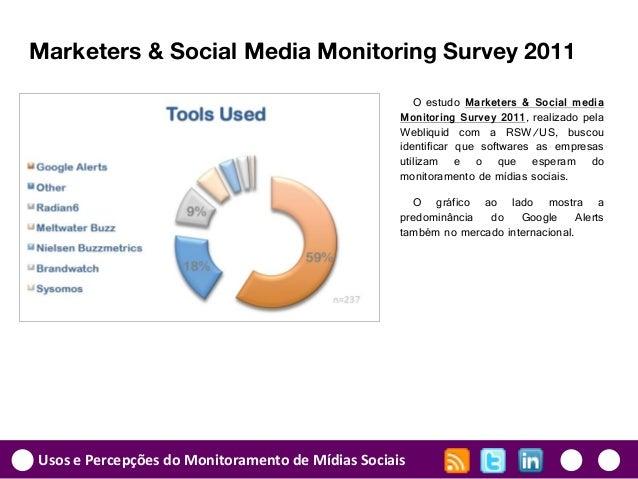 Usos e Percepções do Monitoramento de Mídias Sociais Marketers & Social Media Monitoring Survey 2011 O estudo Marketers & ...