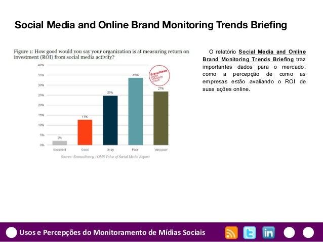 Usos e Percepções do Monitoramento de Mídias Sociais Social Media and Online Brand Monitoring Trends Briefing O relatório ...