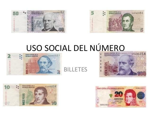 USO SOCIAL DEL NÚMERO BILLETES