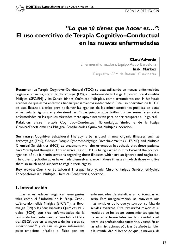 NORTE   DE   SALUD MENTAL nº 35 • 2009 • PAG 89–106                                                                       ...