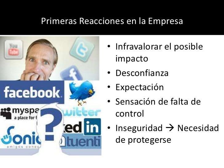Primeras Reacciones en la Empresa<br />Infravalorar el posible impacto<br />Desconfianza<br />Expectación<br />Sensación d...
