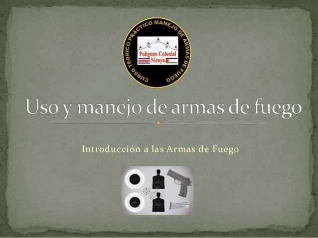 Introducción a las Armas de Fuego