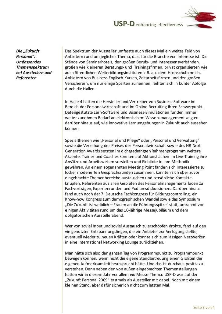 """USP-D enhancing effectivenessDie """"Zukunft          Das Spektrum der Aussteller umfasste auch dieses Mal ein weites Feld vo..."""