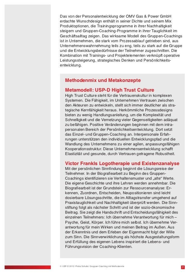 Das von der Personalentwicklung der OMV Gas & Power GmbHerdachte Wunschdesign enthält in seiner Dichte und seinem MixProdu...
