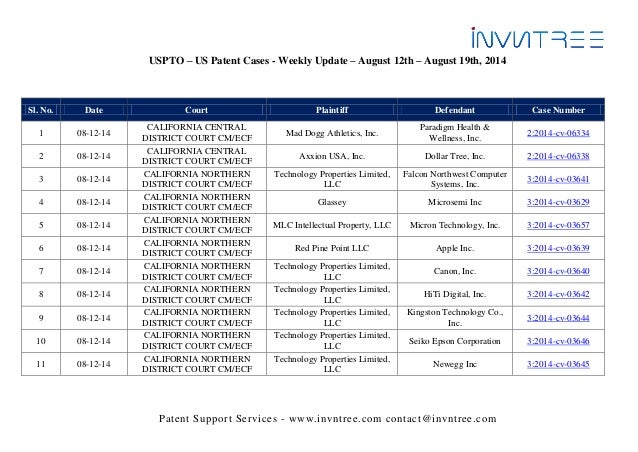 a5d4354c816a7 Us patent cases weekly update august 12th august 19th 2014