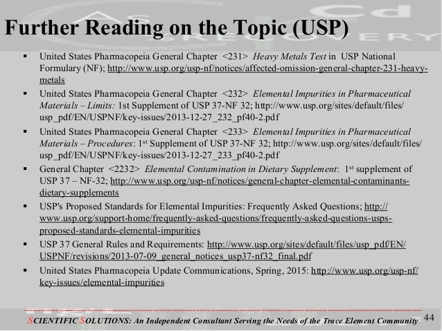 What does USP Chapter 2232 on Elemental Contaminants in