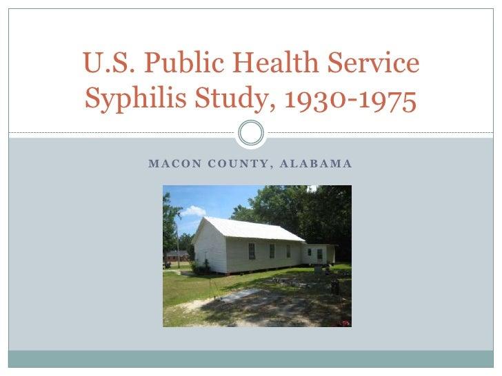 Macon County, Alabama<br />U.S. Public Health Service Syphilis Study, 1930-1975<br />