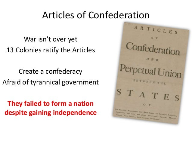 an introduction to the history of the articles of confederation The book we have not a government: the articles of confederation and the  road to the constitution,  congress after it refused to consider a fundamental  reform of the articles of confederation  introduction  history: american history.