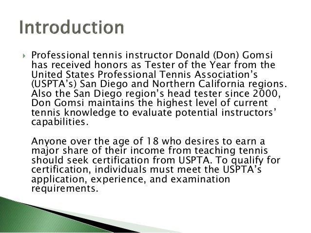 USPTA Testers Validate Tennis Instructor Skills