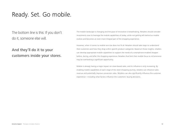 Ready. Set. Go mobile.The bottom line is this: If you don't             The mobile landscape is changing and the pace of i...