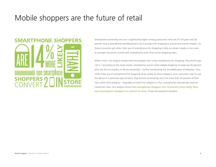 Mobile shoppers are the future of retail                                                  Smartphone ownership and use is ...