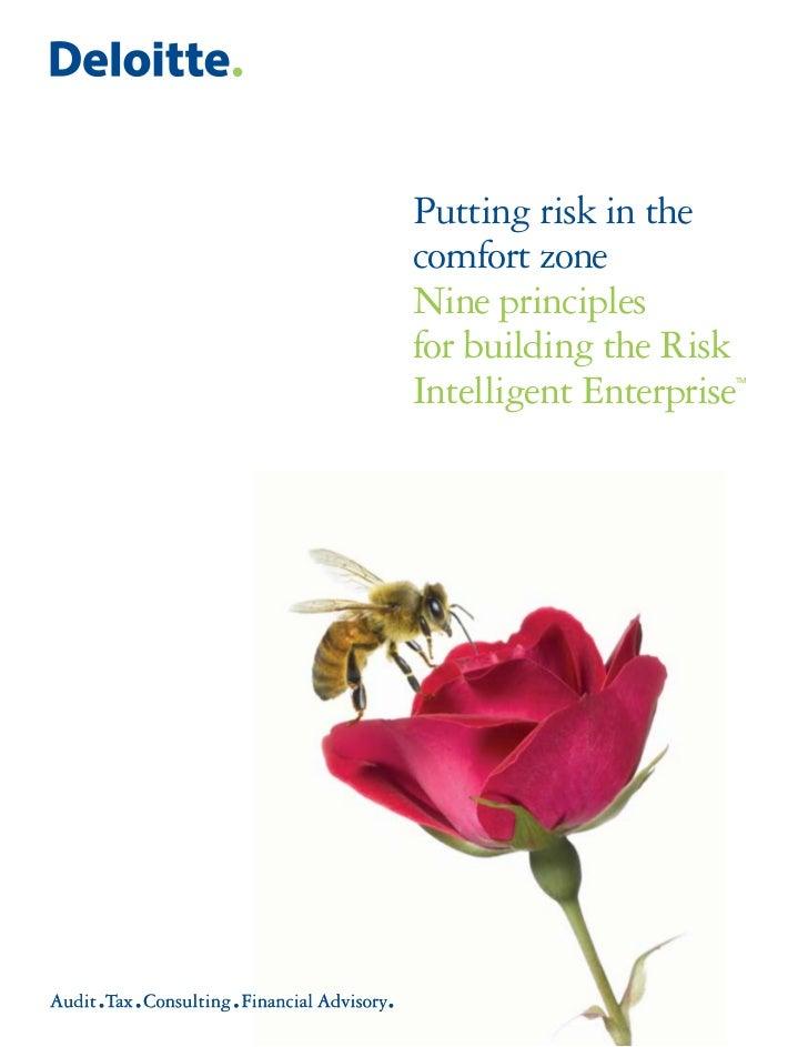 Putting risk in the comfort zone Nine principles for building the Risk Intelligent Enterprise                      TM