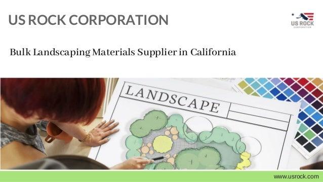 US ROCK CORPORATION www.usrock.com Bulk Landscaping Materials Supplier in  California  V I T A M I N F R E S H . - US Rock Corporation - Bulk Landscaping Materials Supplier In Californ…