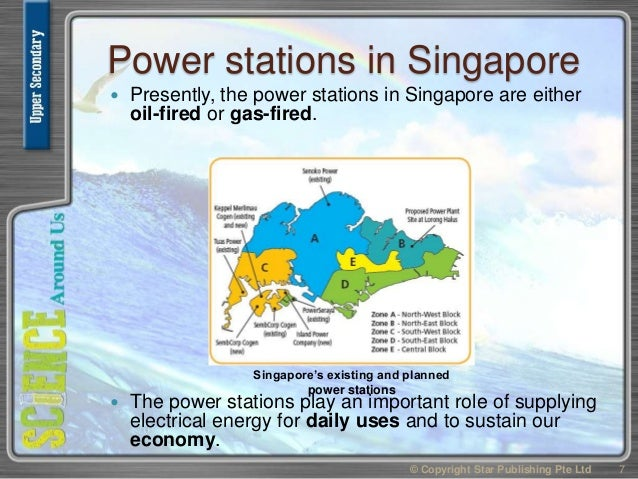 Power stations in Singapore  Presently, the power stations in Singapore are either oil-fired or gas-fired.  The power st...