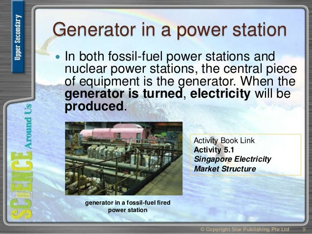Generator in a power station  In both fossil-fuel power stations and nuclear power stations, the central piece of equipme...