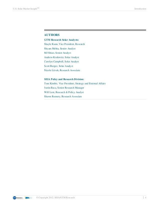 U.S. Solar Market InsightTM                                                               Introduction                    ...