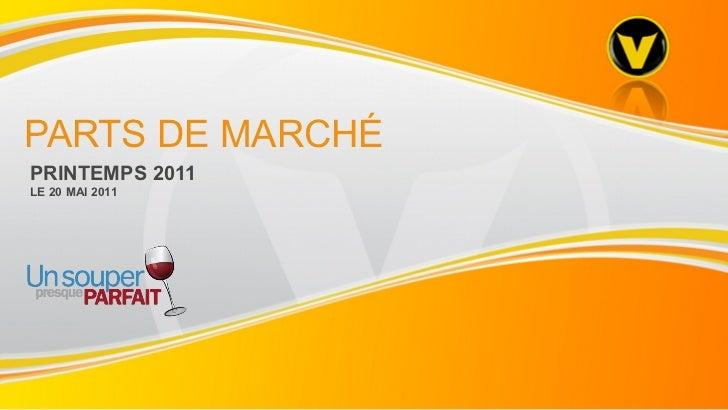PARTS DE MARCHÉ PRINTEMPS 2011  LE 20 MAI 2011