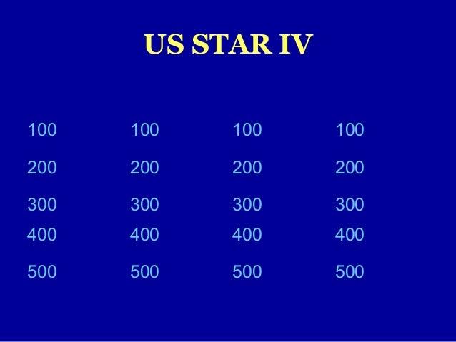 US STAR IV100 100 100 100200 200 200 200300 300 300 300400 400 400 400500 500 500 500