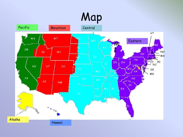 Free Printable Time Zone Map Printable Map Of Usa Time Zones Us