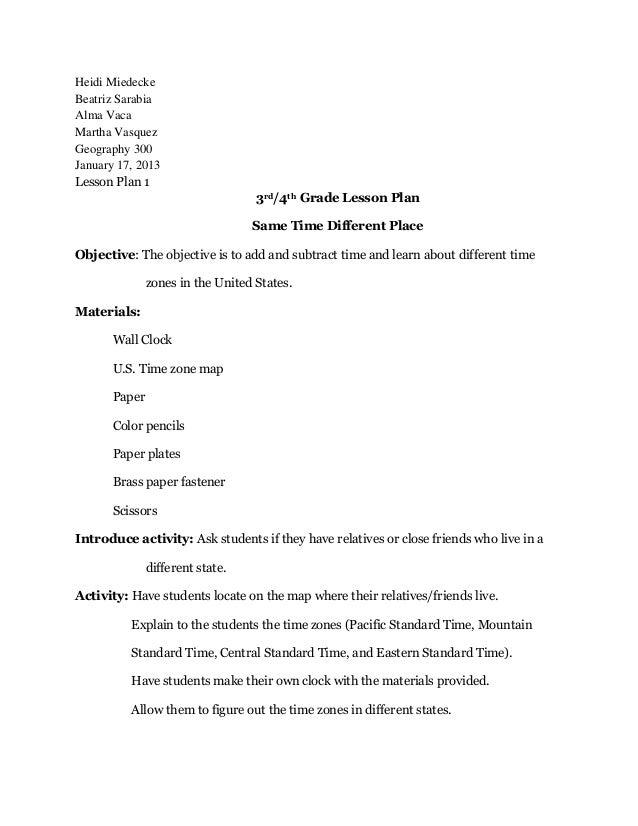 Heidi MiedeckeBeatriz SarabiaAlma VacaMartha VasquezGeography 300January 17, 2013Lesson Plan 1                            ...