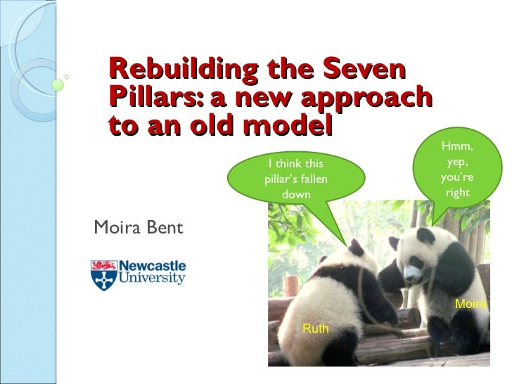 Rebuilding the Seven Pillars: a new approach to an old model Moira Bent I think this pillar's fallen down Hmm, yep, you're...