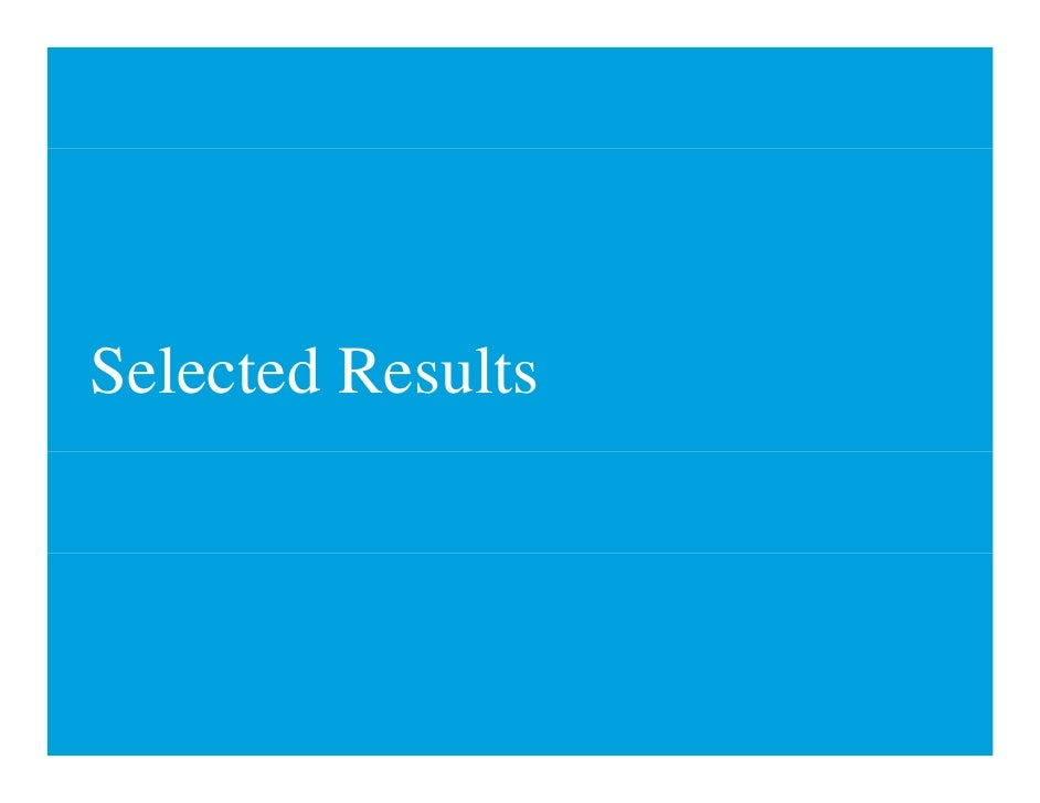 Selected Results S l    dR l