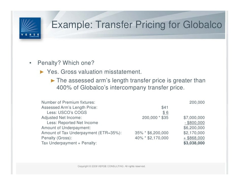 U s transfer pricing penalty regime summary for Transfer pricing agreement template