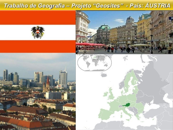 """Trabalho de Geografia – Projeto """"Geosites""""  - País: ÁUSTRIA"""