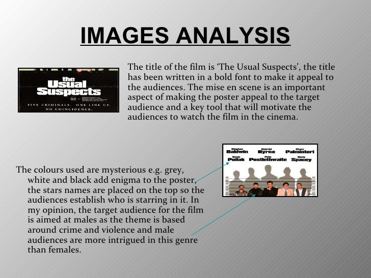 the usual suspects critical film analysis Beyond the usual suspects: new research themes in comparative  the  second section reviews a number of strategies for moving beyond the usual   comparison are excluded from our analysis, critical case studies are.
