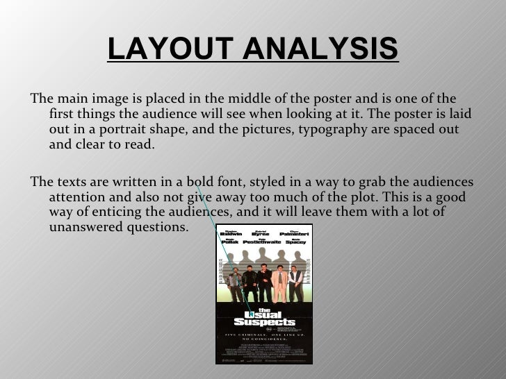 an analysis of the movie the usual suspects The usual suspects (1995) on imdb: plot summary, synopsis, and more.