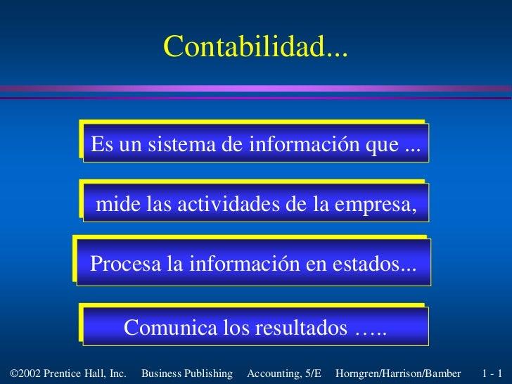 Es un sistema de informaciónque ...<br />mide las actividades de la empresa,<br />Procesa la información en estados...<br ...