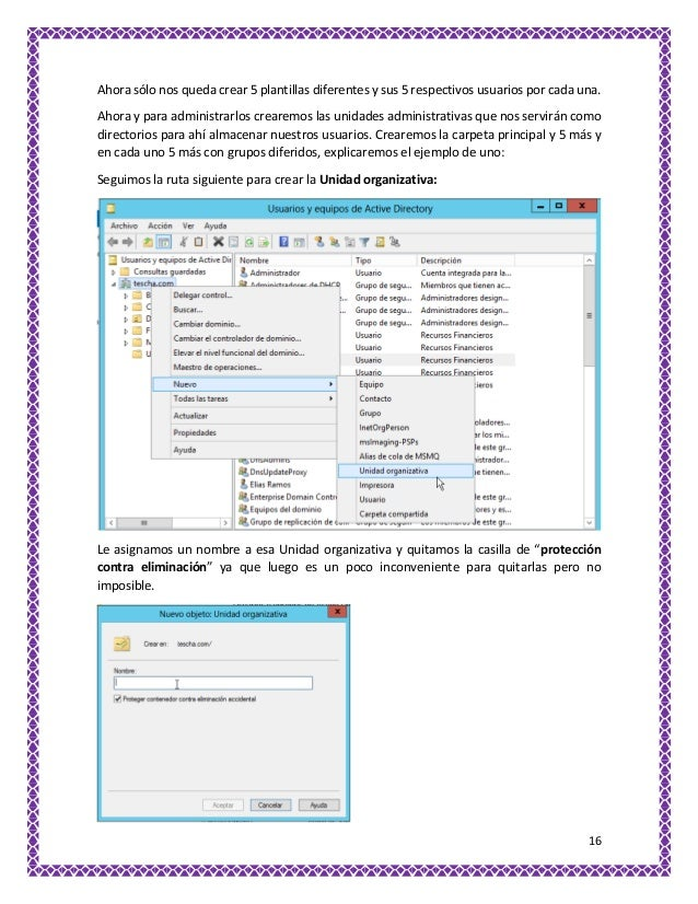 Cuentas de usuario Active Directory