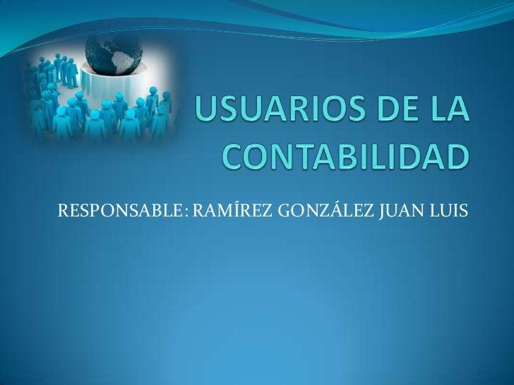 RESPONSABLE: RAMÍREZ GONZÁLEZ JUAN LUIS