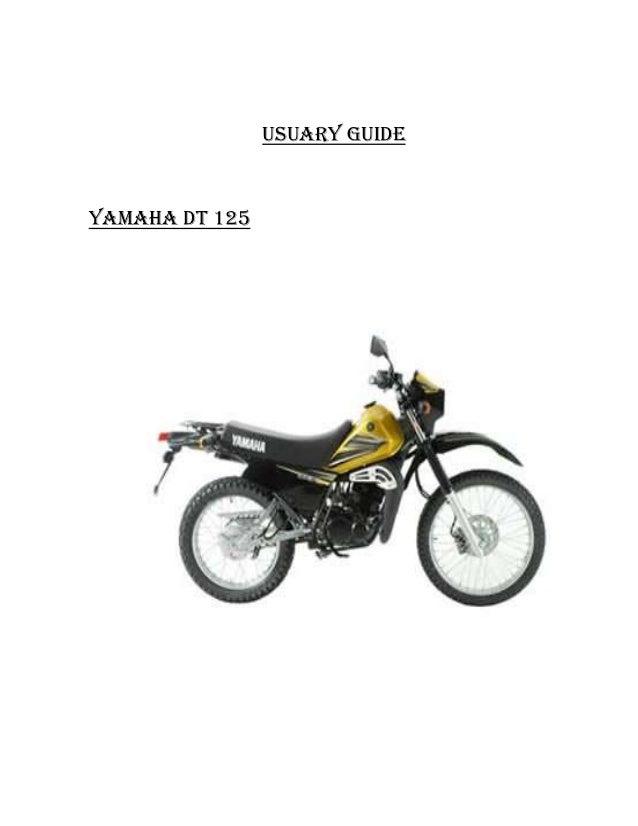 Usuary guideYAMAHA DT 125