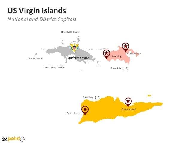 United States Virgin Islands Map: Editable PowerPoint Map