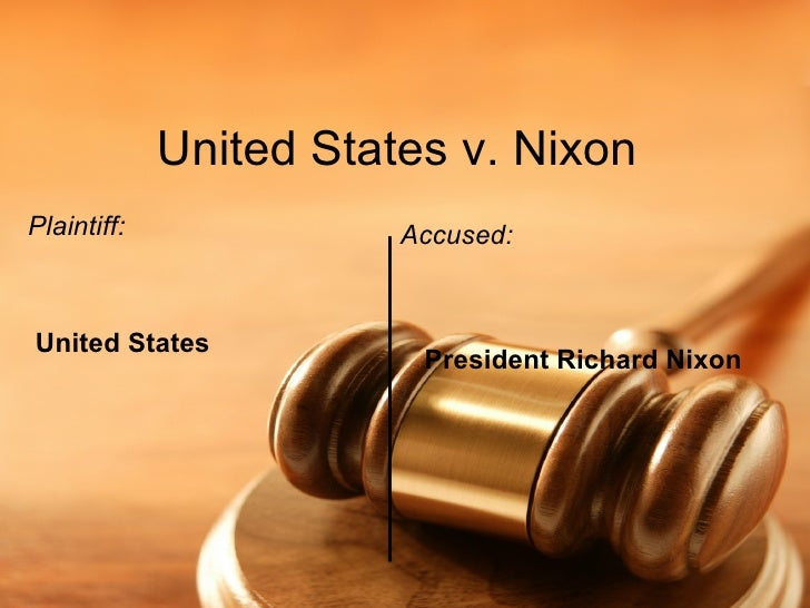 us vs nixon Audio and video presentation of oral arguments in united states vs nixon in the  supreme court of the united states - the watergate tapes.