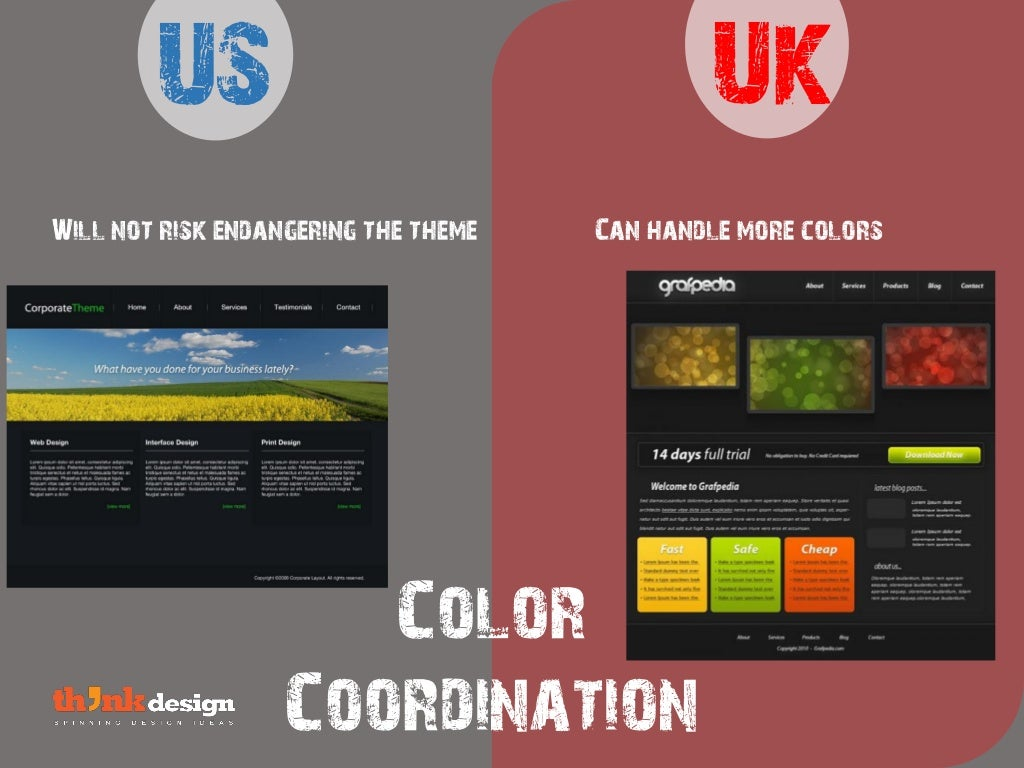 Color coordination uk will not for Color coordinated apps