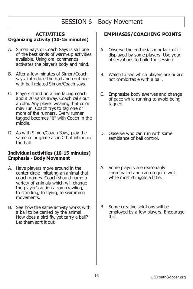 Us Youth Soccer Practice Activities U6 U8